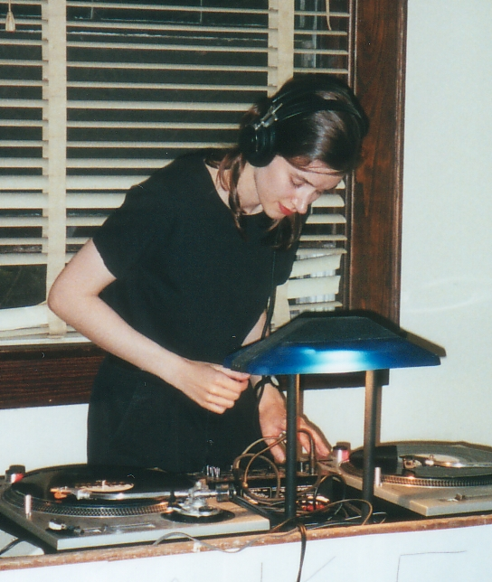 Christine Moritz at the Make*Out house party,