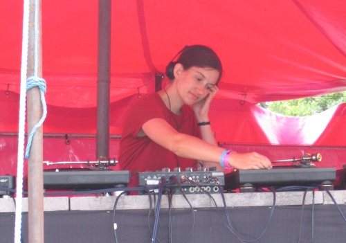 Christine Moritz DJing at the