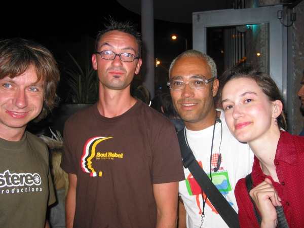 Christine Moritz at WMC 2004 with Raimund Floeck,